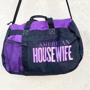 American Housewife tv show DUFFLE bag tote gym big